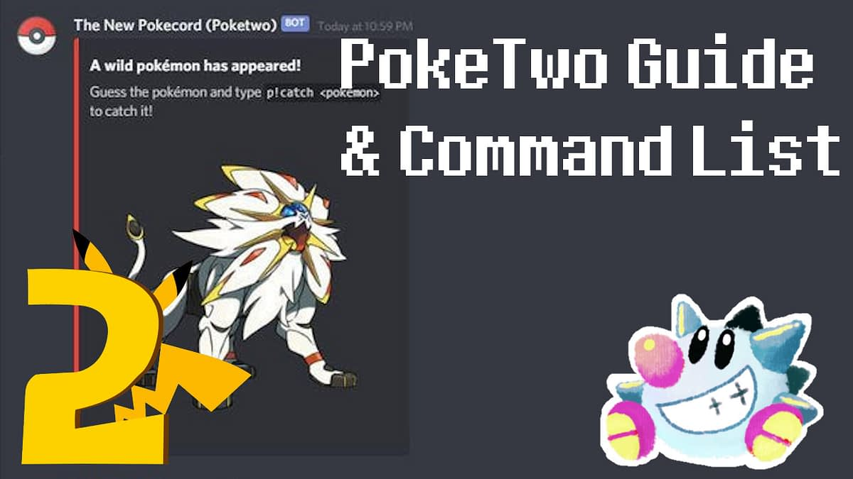 PokeTwo Guide & Commands List   Pokemon Discord Bot